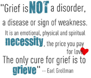 Grief is not a disorder…