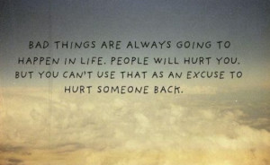 Don't hurt others