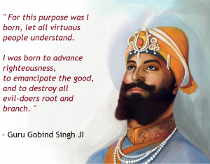 Guru Gobind Singh Ji (1666 -1708) was the Tenth of the Eleven Sikh ...