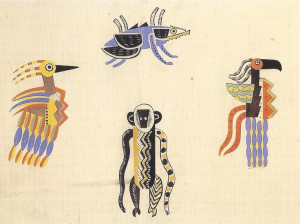"""phileas69: Fernand Léger Costumes pour les animaux de """"La création ..."""