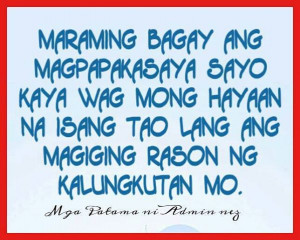 Mga Simpleng Patama – Tagalog Love Quotes