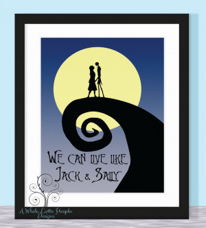 Nightmare Before Christmas Quote Typographic Print - We can live like ...