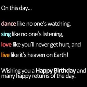 Happy Birthday Inspirational Quotes – 21 Birthday Wishes
