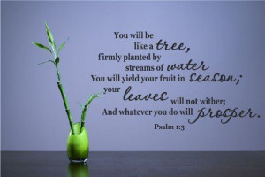 ... will yield your fruit in season; your leaves will not wither; An