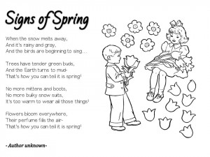springtime acrostic poems poems of spring flowers spring poems