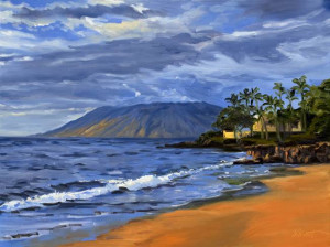 dr , acrylic beach sunset paintings ,