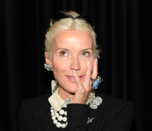 Daphne Guinness receives 'Jewellery Style Award' at the GEM awards