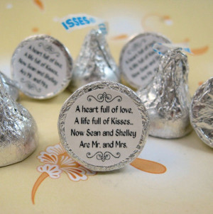 Mr. and Mrs. Personalized Hershey Kisses Label Sticker