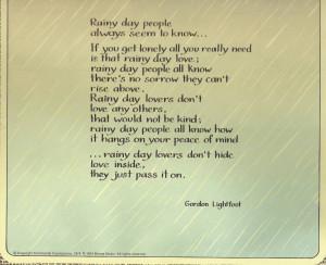 Love Rainy Days Quotes