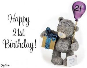 HAPPY 21ST BIRTHDAY, again, my dear~~