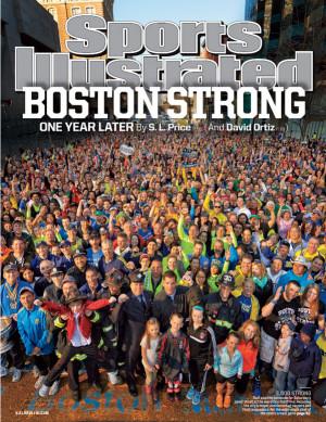 Sports Illustrated Boston Marathon finish line cover shoot hits ...