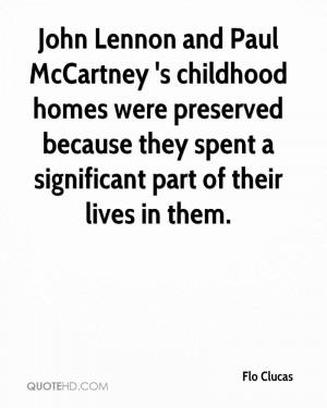 John Lennon and Paul McCartney 's childhood homes were preserved ...