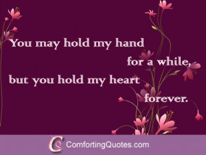 Love Quotes for Him – You Hold my Heart Quote
