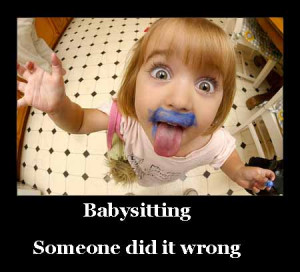 funny babysitting pictures- wrong babysitter