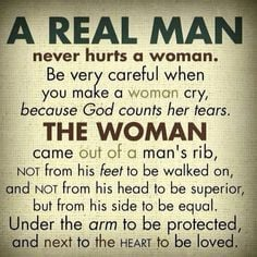 real mms will never disrespect ANY woman including his own. More