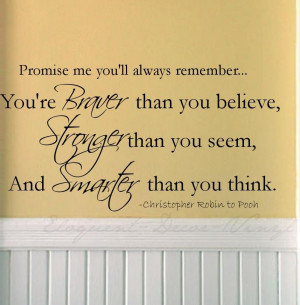 Details about Christopher Robin/Pooh quote VINYL wall words/decal