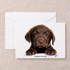 Chocolate Lab Greeting Cards