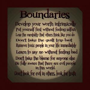 quotes about boundaries | Via Veronica V
