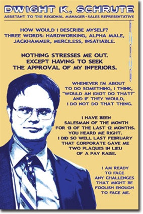 The Office Dwight Schrute Quotes TV Humor Poster