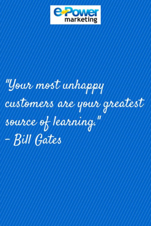 Marketing #Quotes Bill Gates customer satisfaction