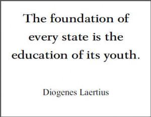 Diogenes Laertius Printable Quote on Education