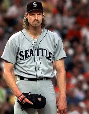 Randy Johnson looks like he could be Chad Kroeger's dad. He's ...