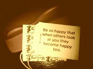 Yogi Tea Quote - Be happy