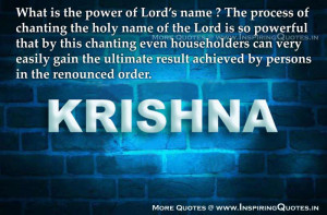 Quotes Power of Lord Name Thoughts, Geeta Quotations Messages Sayings ...