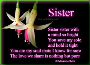 Sisters Love – Marinela Reka