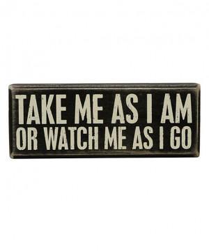 Take Me' Box Sign