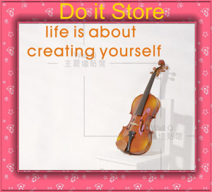 Do it ] Life is about creating yourself Quote Wall sticker Fashion ...
