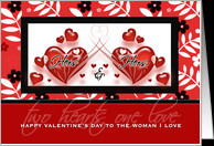 For Lesbian Partner on Valentine's Day Red Hearts card - Product ...