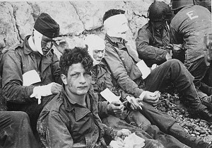 American assault troops of the 16th Infantry Regiment, injured while ...
