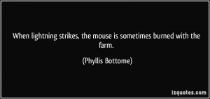 When lightning strikes, the mouse is sometimes burned with the farm ...
