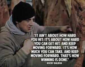 Winning quotes, best, motivational, sayings, rocky balboa