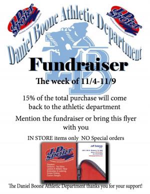 DB Athletic Fundraiser Flyer