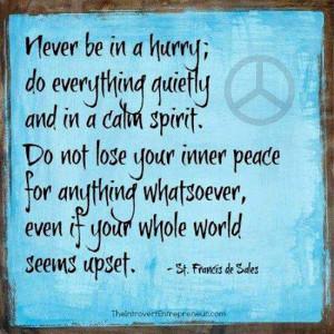 Inner peace...