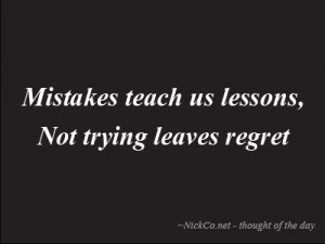 quotes about regrets and mistakes quotesgram