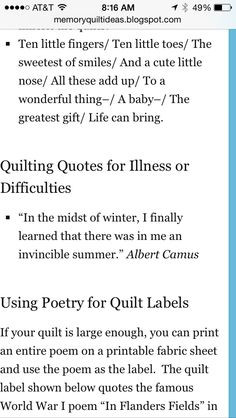sayings 6 more quilts labels quilt label sayings quilt labels sayings ...