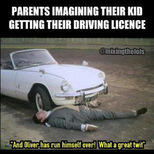 Parents imagining their kid getting their driving license
