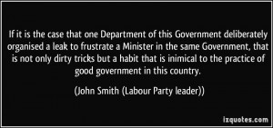 More John Smith (Labour Party leader) Quotes