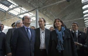 Hollande et Niel inaugurent le lancemement des travaux de la Halle ...