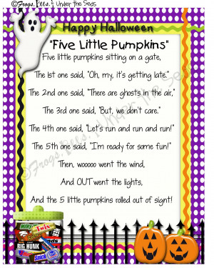 Free Printable Halloween Poems Rhymes