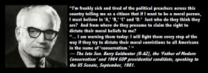 Today's Quote: The Father of Modern Conservatism on Christopublicans