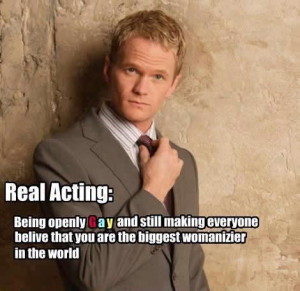 Real acting: Being openly gay and still making everyone believe that ...