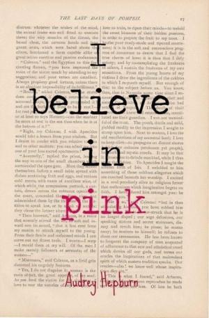 Audrey Hepburn quote pink