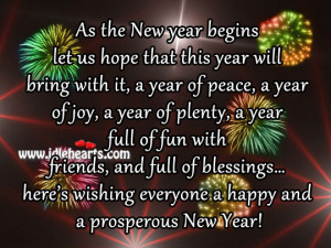 Wishing everyone a happy and a prosperous New Year!
