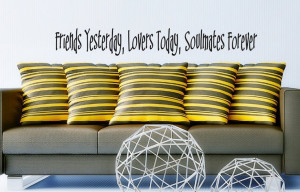 Wall Decal - Friends, Lovers, Soulmates - Wall vinyl sayings - Wedding ...