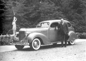 Walter Chrysler With His 1938 Touring Sedan In Great Neck New York ...