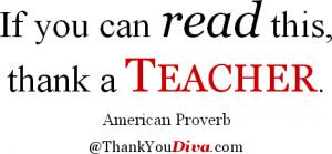 Teacher Appreciation & Thank You Quotes